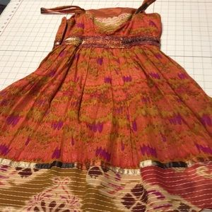 Anna Sui Fall Colors Cocktail Dress 4